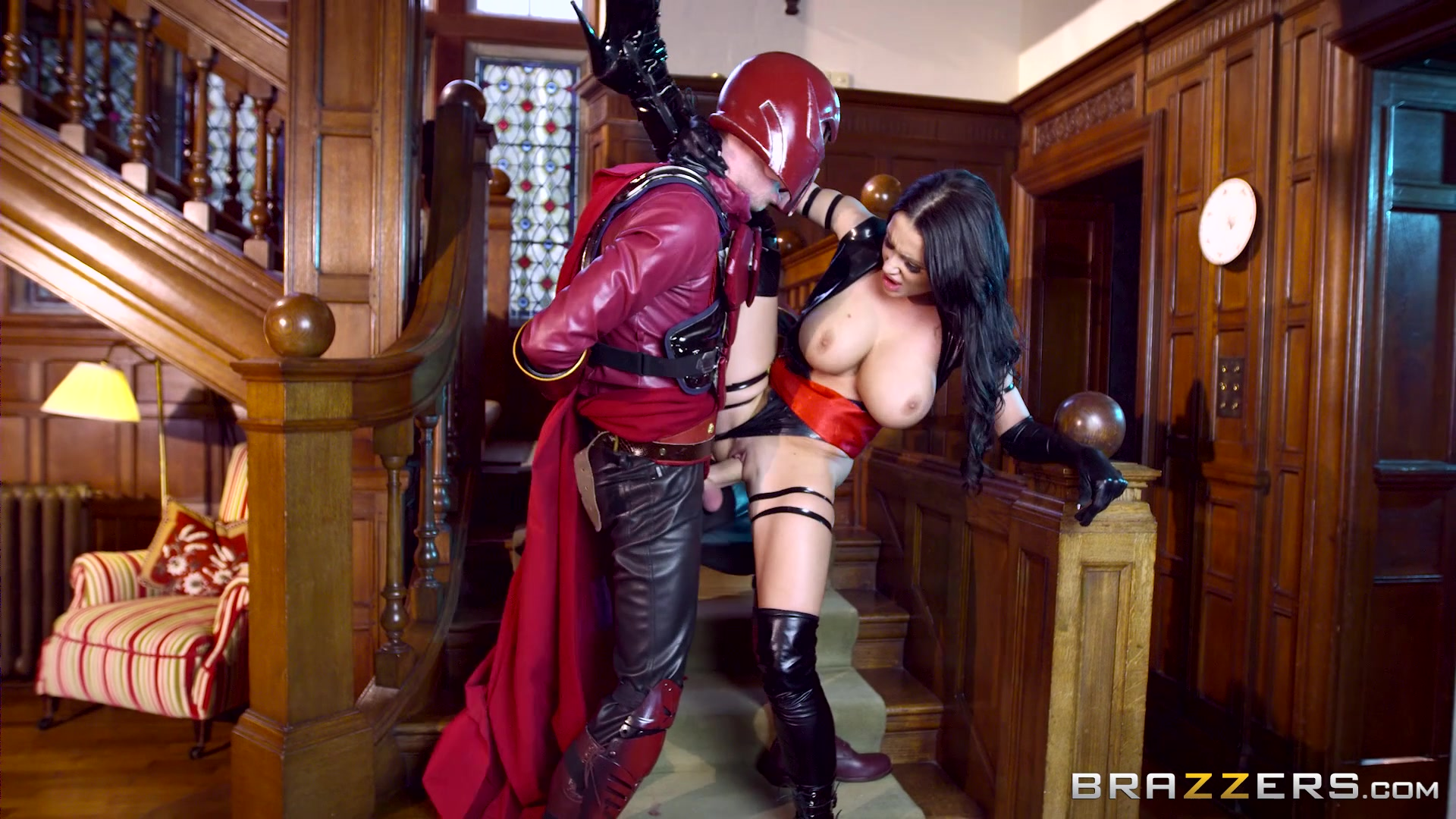 Super Busty Patty Michova Gets Nailed from Behind by a Costumed Man Starring: Patty Michova Length: 28 min