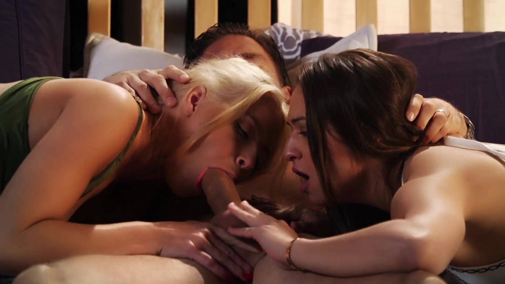 Scene with Mick Blue, Anikka Albrite and Sara Luvv - image 5 out of 20
