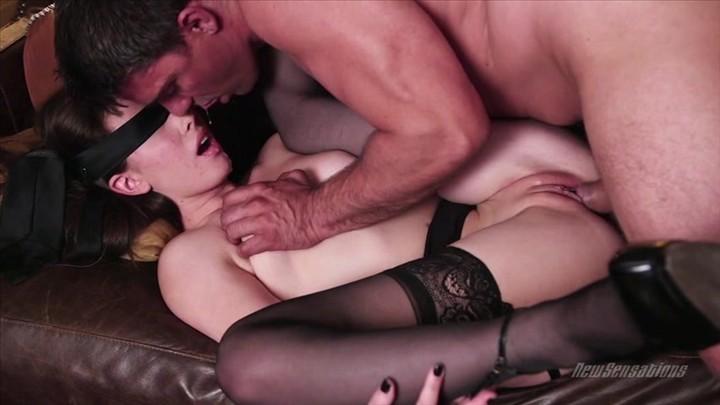 Blindfolded Babe Casey Calvert in Black Stockings Sucks Cock and Gets Fucked  Starring:  Casey Calvert