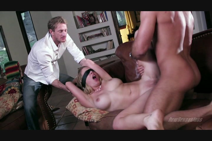Blindfolded Blonde Babe Cherie DeVille Gets Fucked by a Hung Stud on the Couch a... Starring:  Cherie DeVille