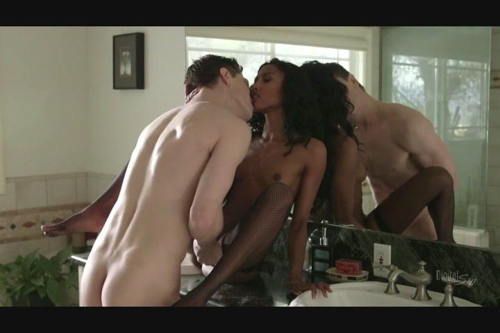 Stunning Black Babe Sucks and Fucks a Hung White Stud Starring: Bruce Venture Adriana Malao