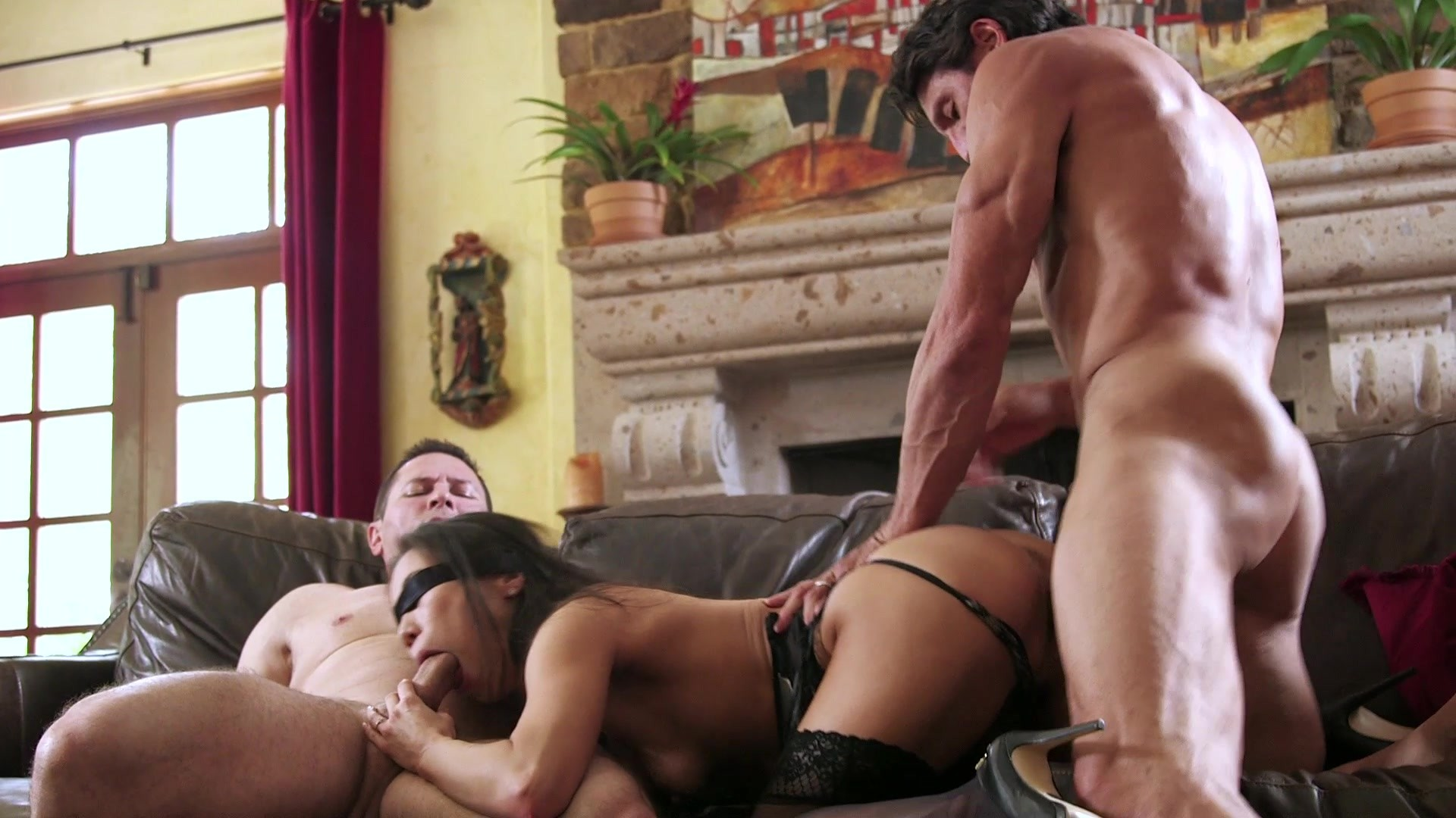 Scene with Tommy Gunn, John Strong and Kalina Ryu - image 11 out of 20