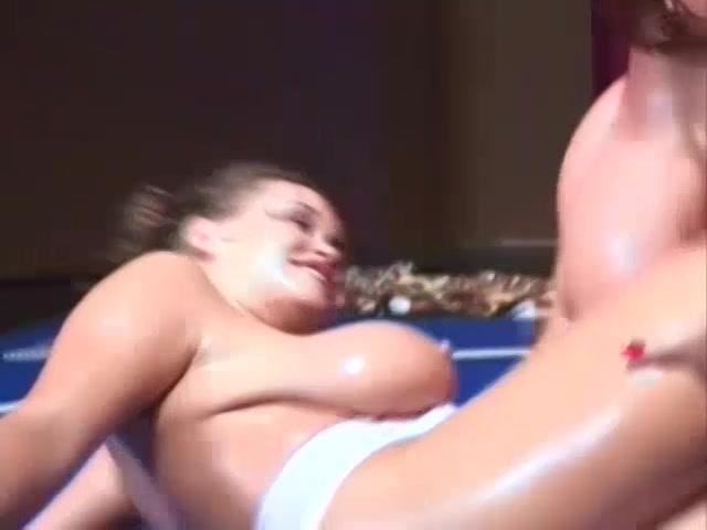Porn tube busty chicks oil wrestling