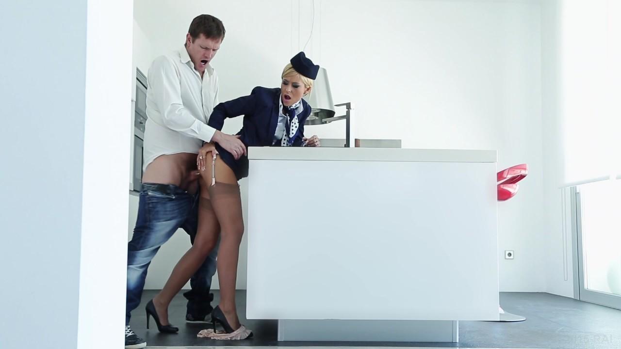 Vid fuck cum stewardess