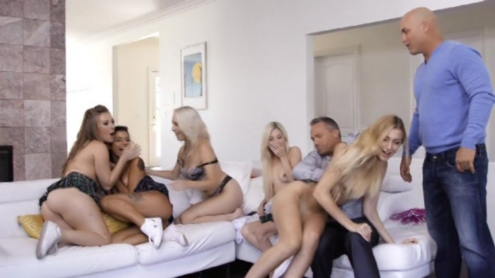Cheerleader orgy video fuck, think