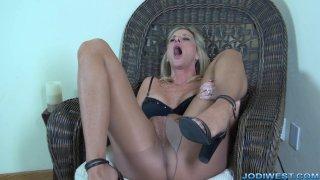 Jodi West - Hot Pantyhose Pussy  image three