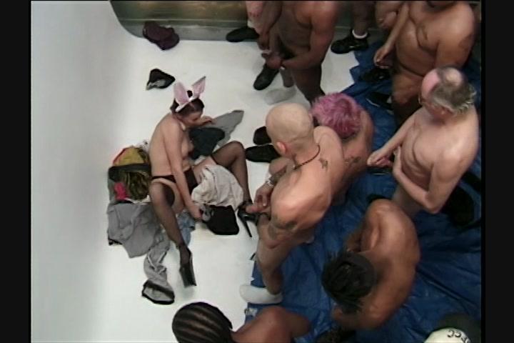 Dripping cum black pussy