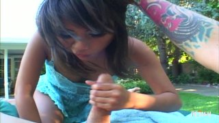 Streaming porn scene video image #3 from Asian Gets Pummeled Outdoors