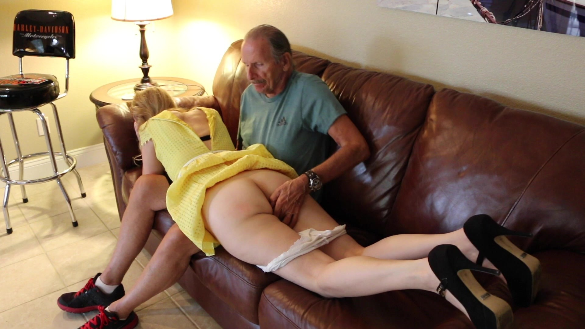 Fucking his hot stepdaughter hard