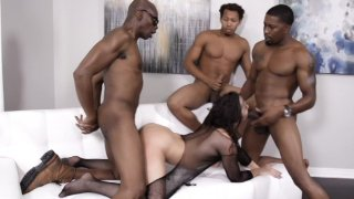 Streaming porn video still #7 from My First Black Gang Bang 3