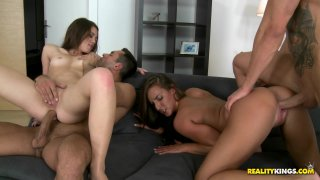 Streaming porn video still #7 from Couples Seduce Couples Vol. 13