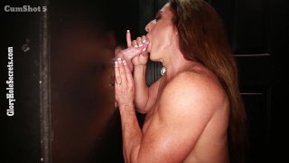 Streaming porn video still #4 from Gloryhole Secrets: Muscle MILFs Edition
