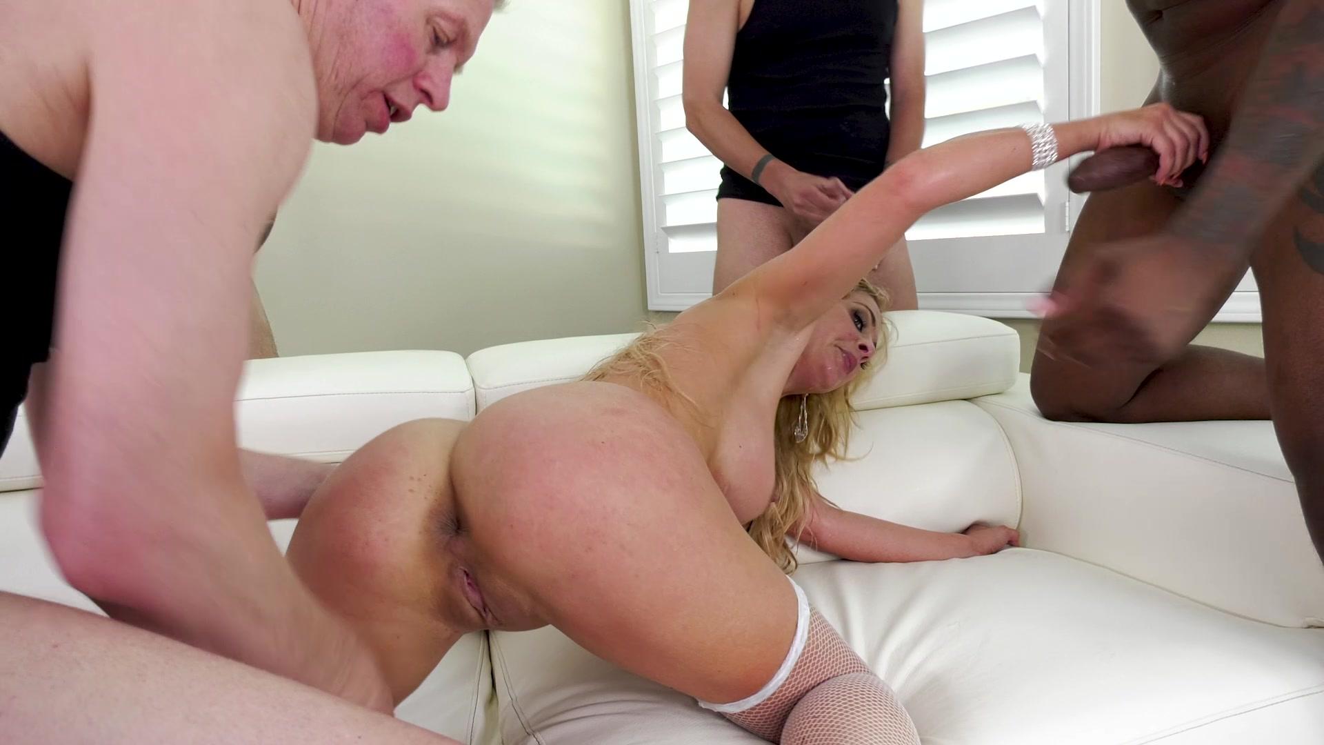 Hot blonde mom gangbang