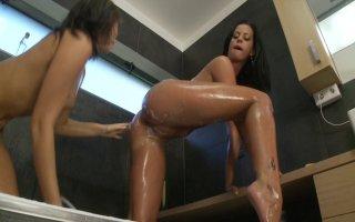 Streaming porn video still #2 from Lesbian Brunette Beauties 3