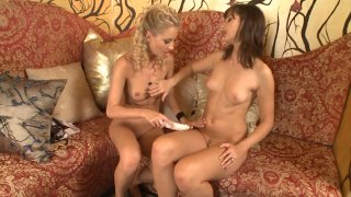 Streaming porn video still #5 from Blondes Who Love Brunettes 5