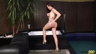 Streaming porn video still #1 from TS Cock Strokers 37
