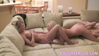 Streaming porn video still #1 from Orgy In My Living Room