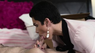 Streaming porn video still #2 from My TS Stepmom