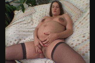 Streaming porn scene video image #3 from Pregnant Brunette Wants Dick Bad