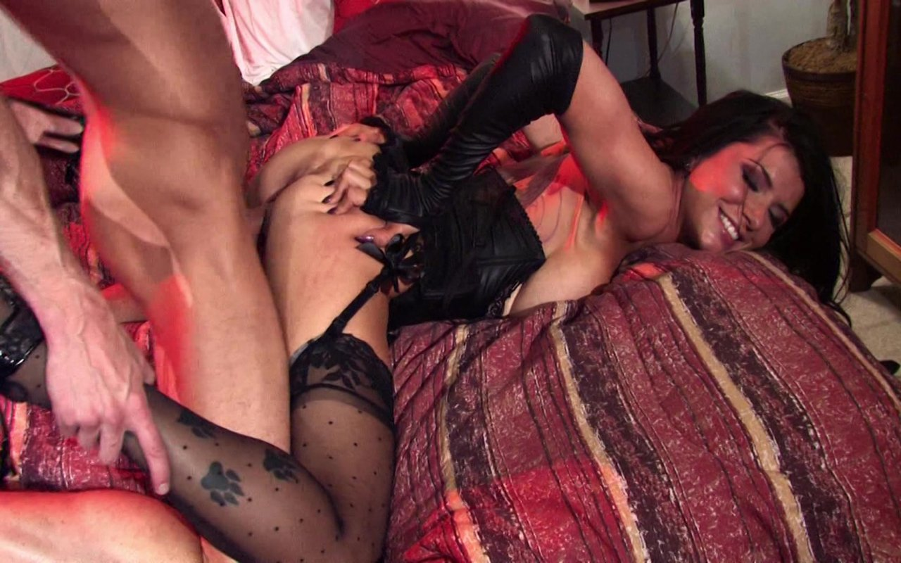 Romi Rain Looks Amazing Getting Fucked in Her Fishnets and Heels streaming porn video scene.