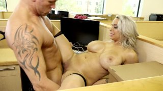 Streaming porn video still #6 from Big Tit Office Chicks