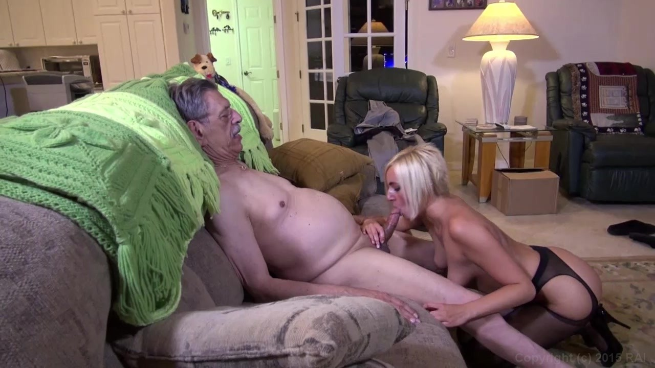 Old man fucks young blonde and grandfather 6