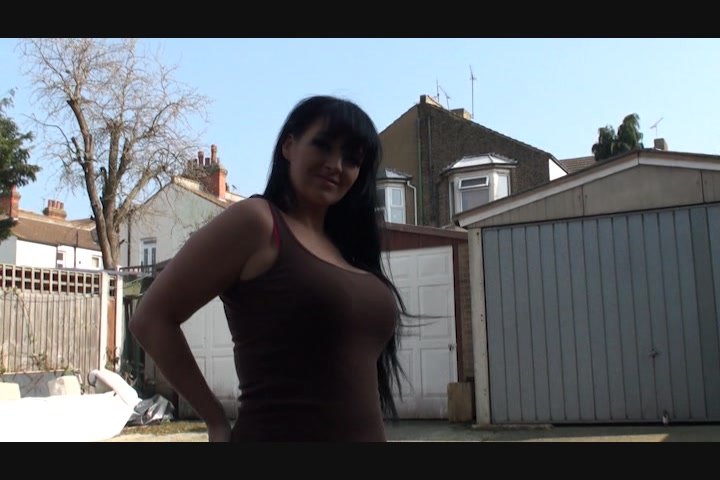 Ass dildo pussy tit