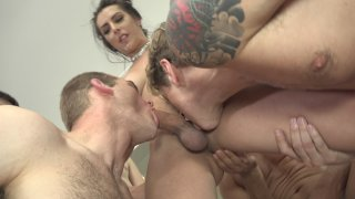 Streaming porn video still #5 from T.S. Gangbang Auditions