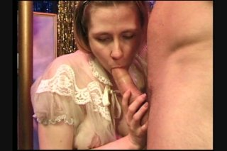 Streaming porn scene video image #9 from Pregnant Pole Dancer with Hairy Pussy Sucks off two Customers