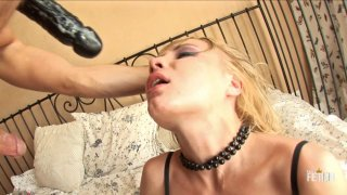 Streaming porn scene video image #1 from Young Blonde Slut Gets Her Pussy Pumped