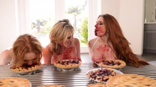 Streaming porn video still #1 from Messy Girls: Pie Whores