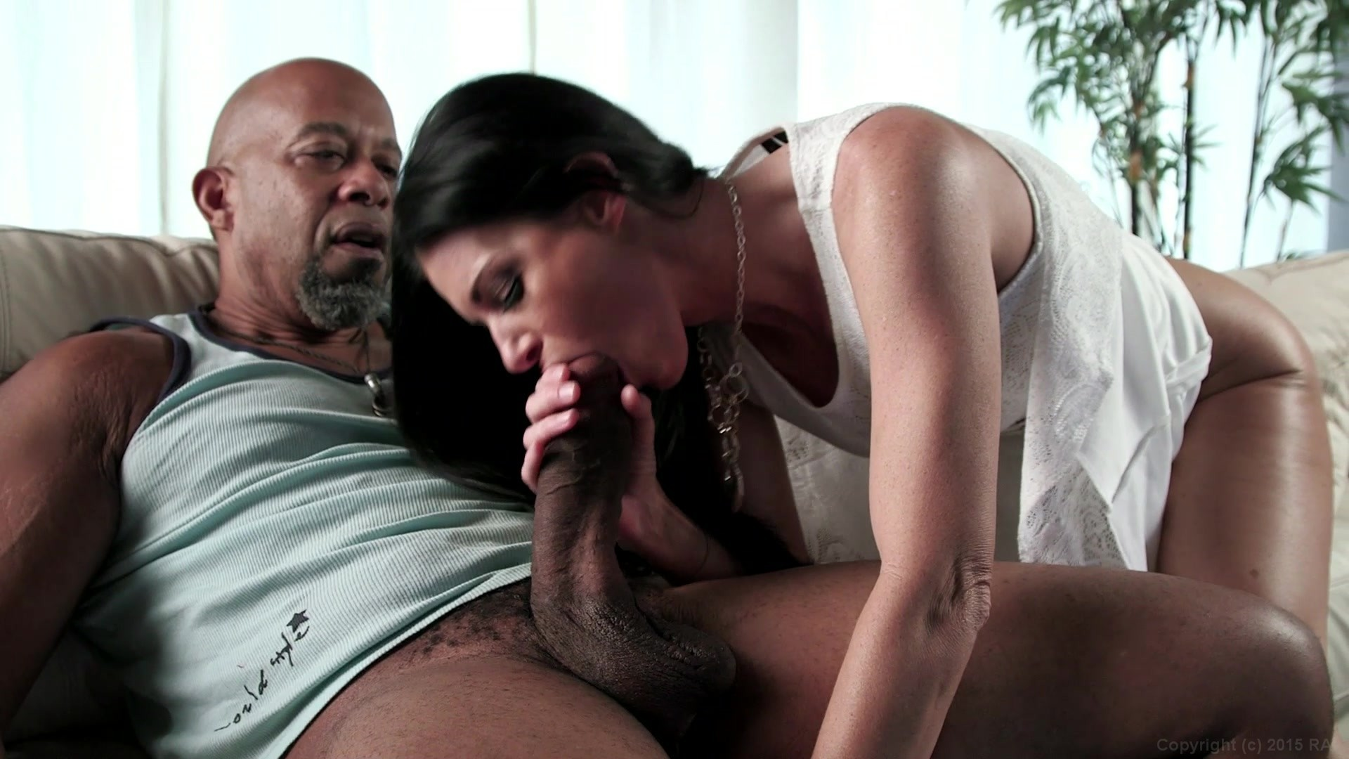 Big black cock in husbands wife