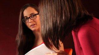 Streaming porn video still #5 from Secret Lesbian Diaries 3: Writing School