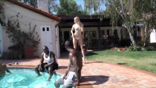 Streaming porn video still #13 from Gangbang Her Little White Thang! 19