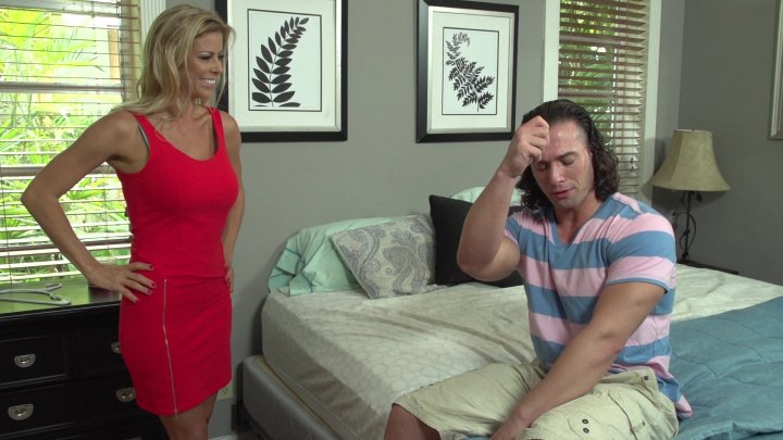 Beautiful Blonde Babe Gets Fucked by a Muscular Stud in the Bedroom