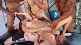 Streaming porn video still #7 from Kinky Cuckold Gangbang 3