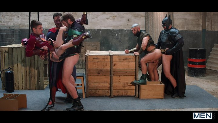 Streaming porn video still #1 from Justice League: A Gay XXX Parody