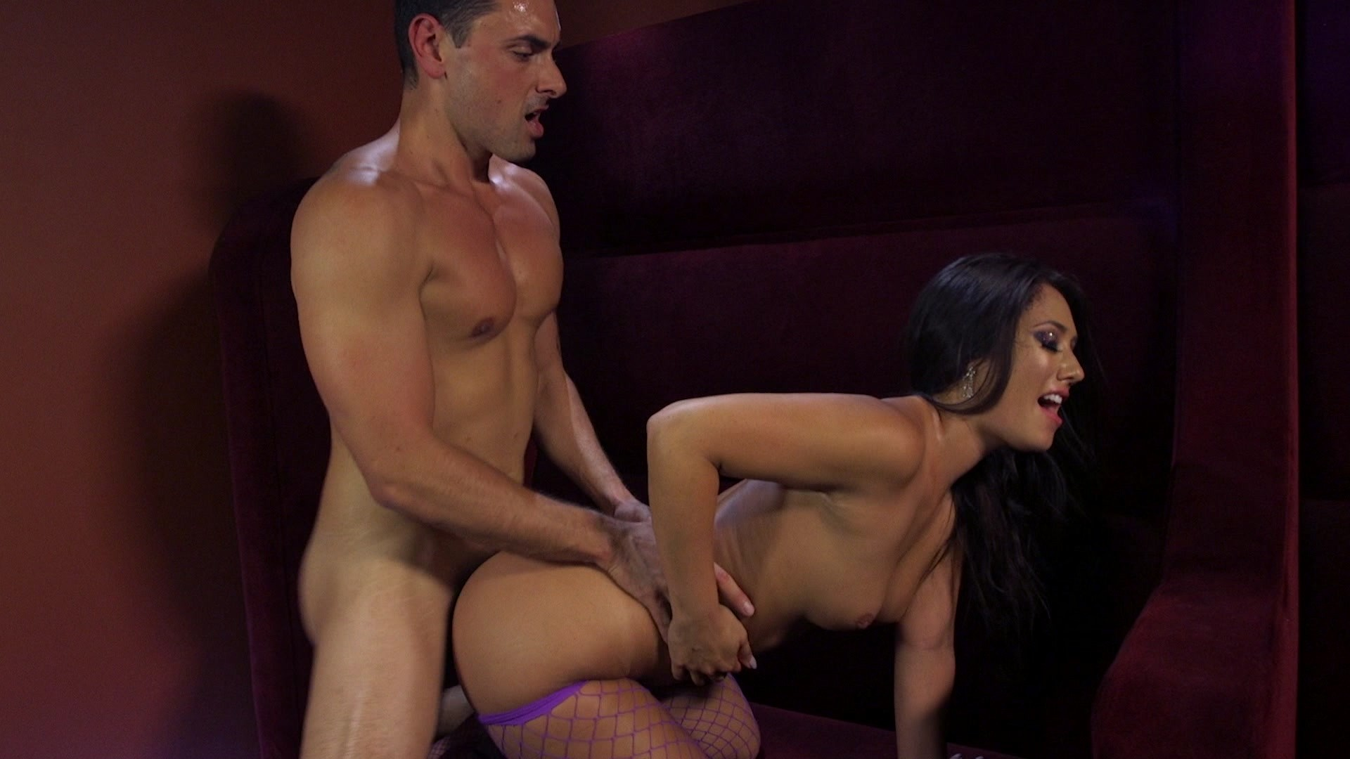Abigail mac seduces hung stud then rides that big cock trenchcoatx 4
