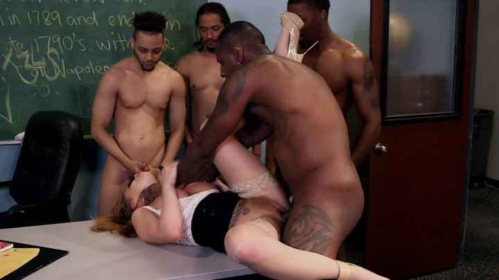 Transsexual training with dildo