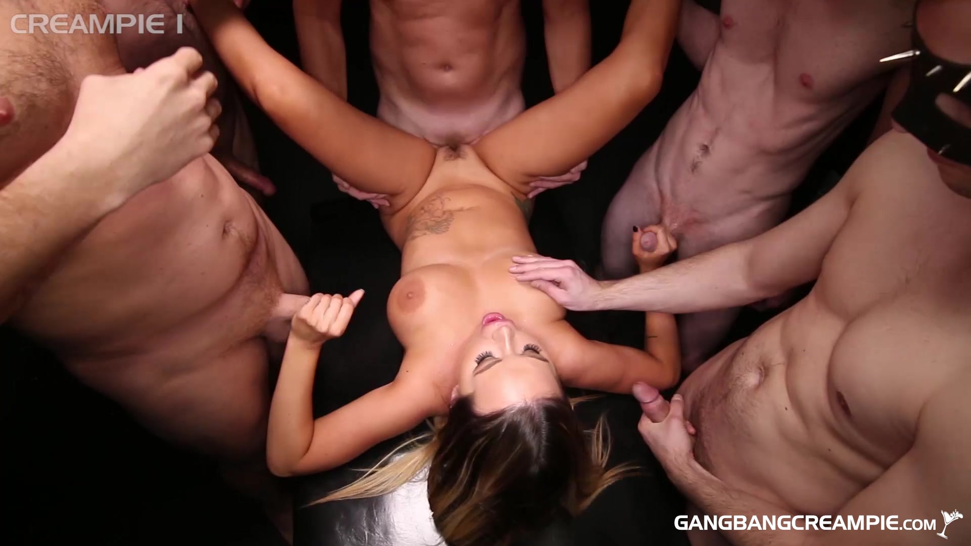 Rachele Richey Gets Covered in Jizz After a Hardcore Gangbang HD streaming porn video scene.