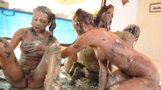 Streaming porn video still #4 from Messy Girls 6