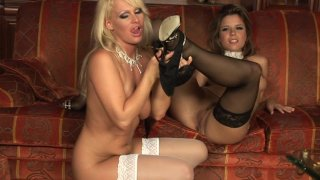 Streaming porn video still #3 from Bad Blonde Lesbians