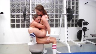 Streaming porn video still #6 from Lesbian Workout