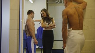 Streaming porn video still #1 from Scandal In the Locker Room