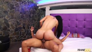 Streaming porn video still #7 from Big Booty T Girls Vol. 11