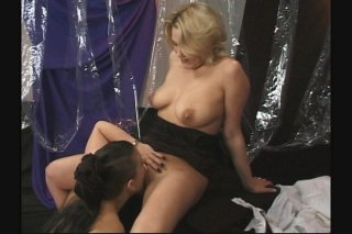 Streaming porn scene video image #3 from Hot busty sisters milking each other