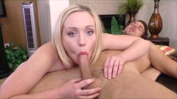 Pretty Blonde Miley May Deep Throats His Big Dick.