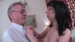 Streaming porn video still #1 from Don't Let Grandpa Babysit Your Daughter #3