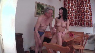 Streaming porn video still #4 from Don't Let Grandpa Babysit Your Daughter #3